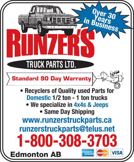 Ads Runzer's Truck Parts Ltd