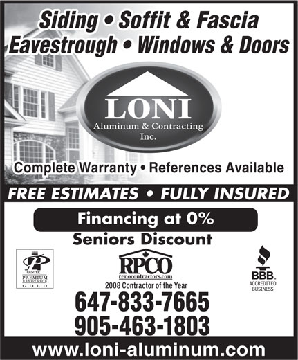 Ads Loni Aluminum & Contracting