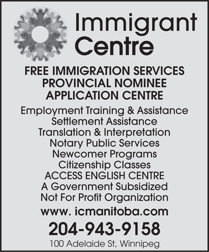 Ads Immigrant Centre Manitoba Inc