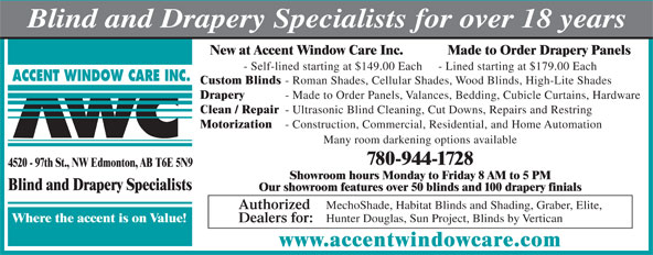 Ads Accent Window Care Inc
