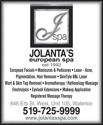 Ads Jolanta's European Spa Ltd