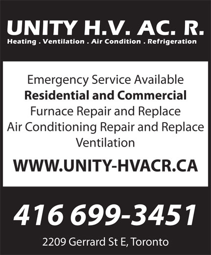 Ads Unity HVACR Heating and AirConditioningContractor