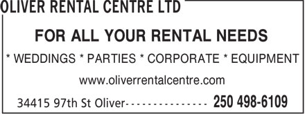 Ads Oliver Rental Centre Ltd
