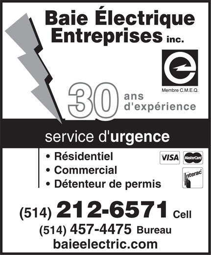 Ads Baie Electrique Entreprises Inc