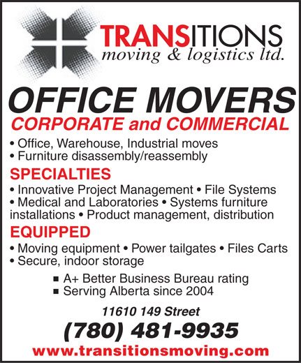 Ads Transitions Moving &amp; Logistics Ltd
