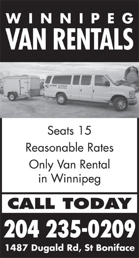 Ads Winnipeg Van Rentals