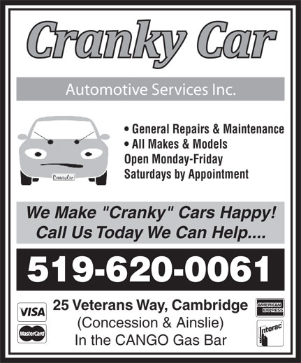 Ads Cranky Car Automotive Services