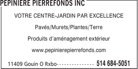 Ads Ppinire Pierrefonds Inc