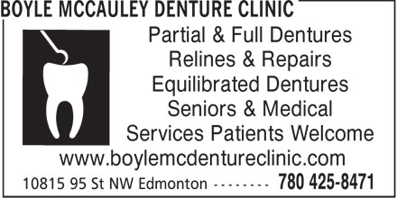 Ads Boyle McCauley Denture Clinic