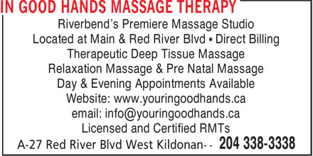 Ads In Good Hands Massage Therapy