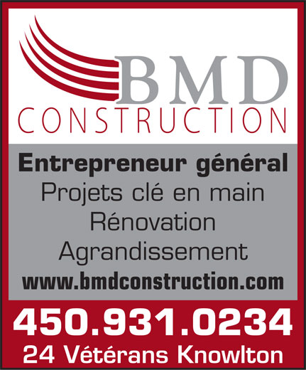 Ads BMD Construction Inc