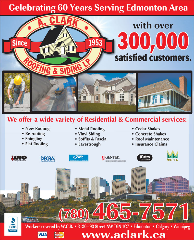 Ads A Clark Roofing And Siding Ltd