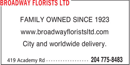 Ads Broadway Florists Ltd