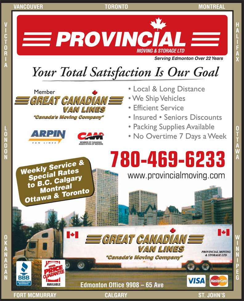 Ads Provincial Moving &amp; Storage