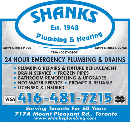 Ads Shanks A &amp; G Plumbing &amp; Heating Ltd