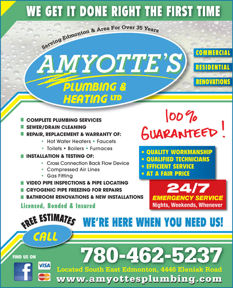 Ads Amyotte's Plumbing & Heating Ltd