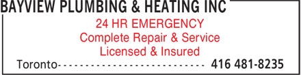 Ads Bayview Plumbing & Heating Inc