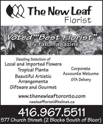 Ads New Leaf Florist, The