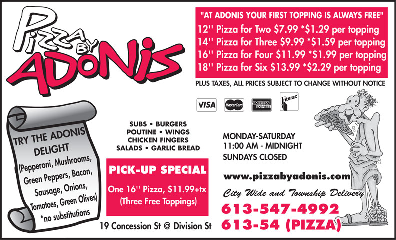 Ads Pizza By Adonis