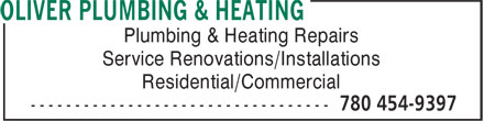 Ads Oliver Plumbing &amp; Heating