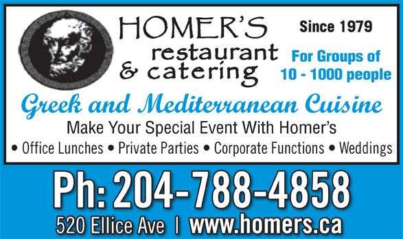 Ads Homer's Restaurant & Catering