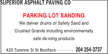 Ads Superior Asphalt Paving Co
