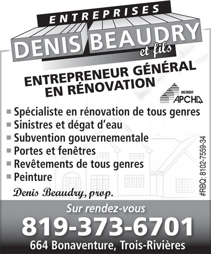 Ads Entreprises Denis Beaudry