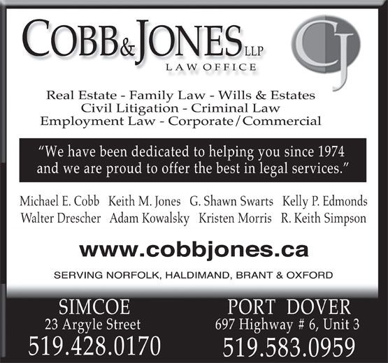 Ads Cobb &amp; Jones
