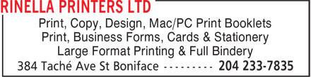 Ads Rinella Printers Ltd