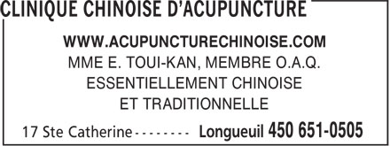Ads Clinique Chinoise d'Acupuncture