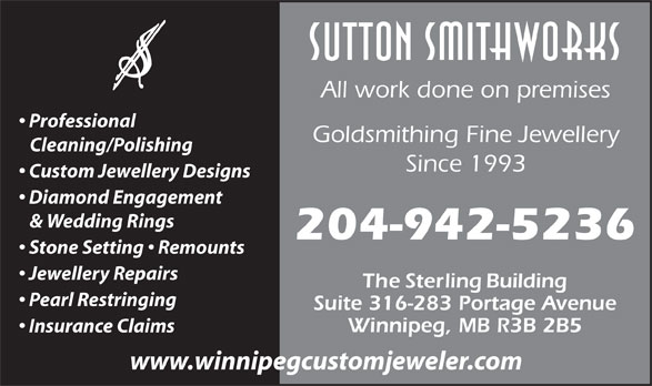 Ads Sutton's Custom Smithworks Ltd