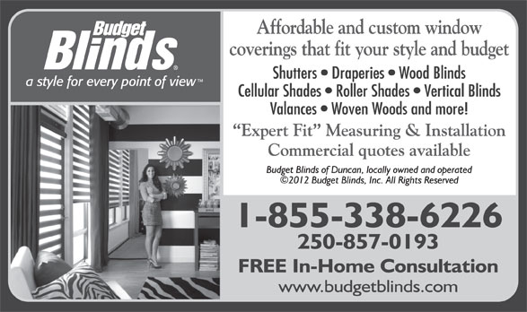 Ads Budget Blinds of Duncan