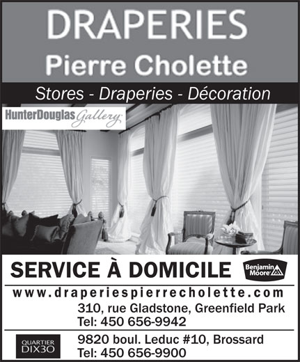 Ads Draperies Pierre Cholette Inc