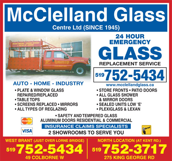 Ads McClelland Glass W J & Sons Ltd