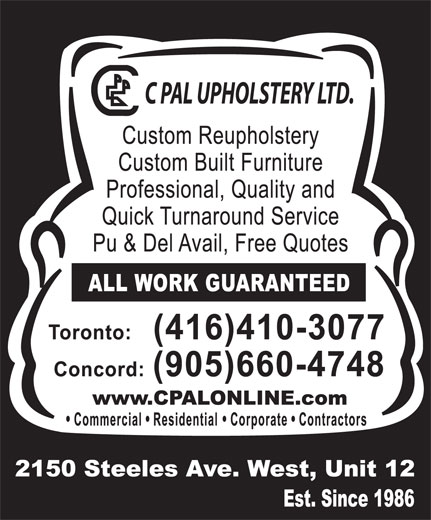 Ads C Pal Upholstery Ltd