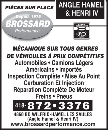 Ads Brossard Performance Inc