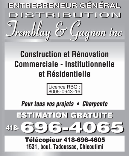 Ads Distribution Tremblay &amp; Gagnon Inc