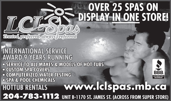 Ads LCL Spas & Billiards