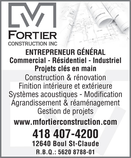 Ads M Fortier Construction Inc