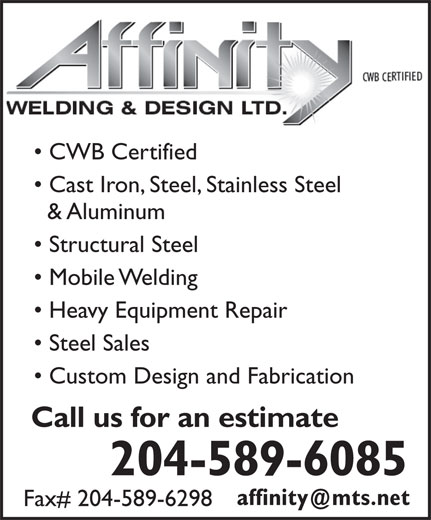 Ads Affinity Welding &amp; Design Ltd