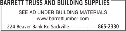 Ads Barrett Truss and Building Supplies