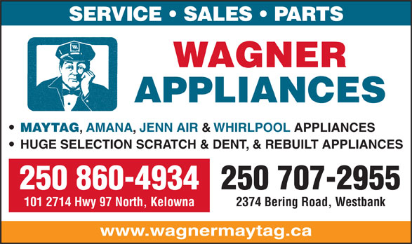 Ads Wagner Appliances