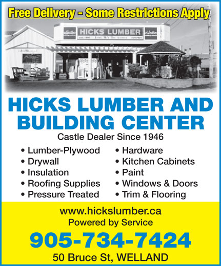 Ads Hicks Lumber & Builders' Supplies