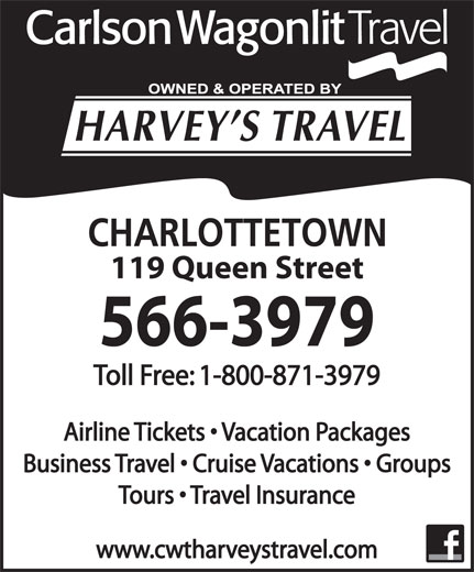 Ads Carlson Wagonlit Travel-Harvey's Travel