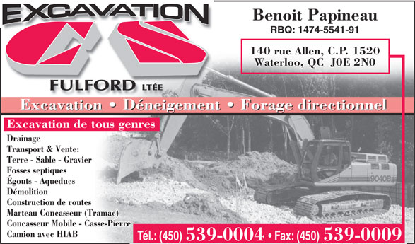 Ads Excavation CS Fulford
