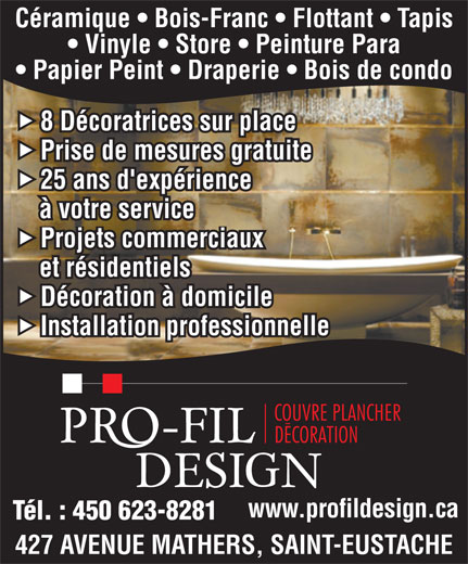 Ads Pro-Fil Design Couvre-Planchers & Decoration Inc