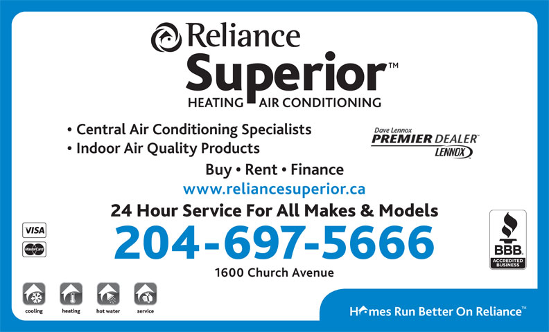 Ads Reliance Superior Heating &amp; Air Conditioning