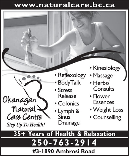 Ads Okanagan Natural Care Centre