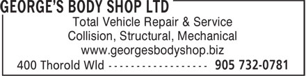 Ads George&#039;s Body Shop Ltd