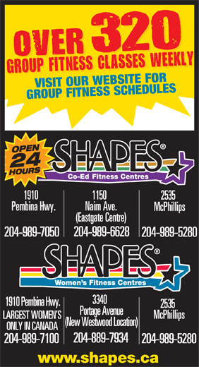 Ads Shapes Fitness Centres